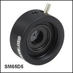 SM05-Threaded, Lever-Actuated Iris Diaphragm
