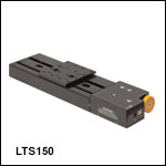 150 mm Linear Translation Stage with Integrated Controller, Stepper Motor