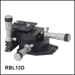 3-Axis RollerBlock Stage, Differential Micrometers