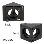 60 mm Cage Right-Angle Kinematic Mirror Mount with Smooth Cage Rod Bores