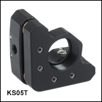 Kinematic Mount for Thin Ø1/2in Optics, 3 Adjusters