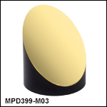 Ø3in 90° Off-Axis Parabolic Mirror, Unprotected Gold Coating