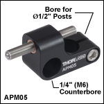 Adjustable Kinematic Positioner,1/4in (M6) Counterbore