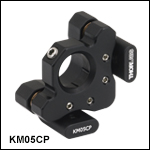 Ø1/2in Kinematic Mirror Mount with Post-Centered Front Plate