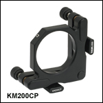 Ø2in Kinematic Mirror Mount with Post-Centered Front Plate