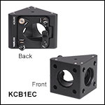30 mm Cage Right-Angle Kinematic Elliptical Mirror Mount with Smooth Cage Rod Bores