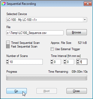 Sequencial Recording Settings