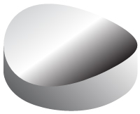 Concave cylindrical mirror profile