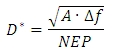 Detectivity Equation