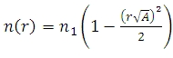 Index as a Function of Radius