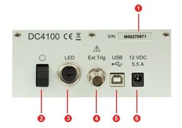 DC4100 Back Panel