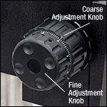 Fine and Coarse Adjustment Knobs