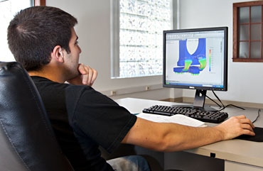 An Engineer Using Solidworks