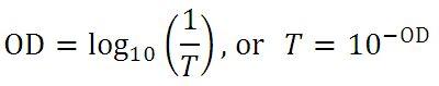 Optical Density Equation