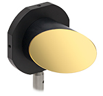 Parabolic Mirror Mounted to Post Using MP508P2 Adapter