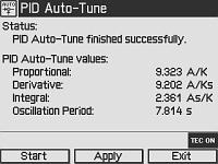 PID Auto-Tune Screen