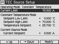 Temperature Controller Screen