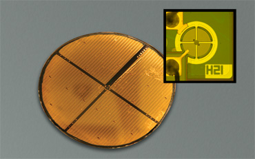 Figure2: MEMS-VCSEL Wafer Photo