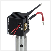 Thermistor attached to passive heat sink