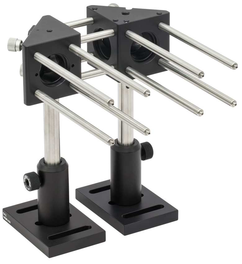 Right Angle Base : Right angle kinematic cage mounts for round mirrors