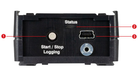 upTEMP Temperature Logger Back Panel Features