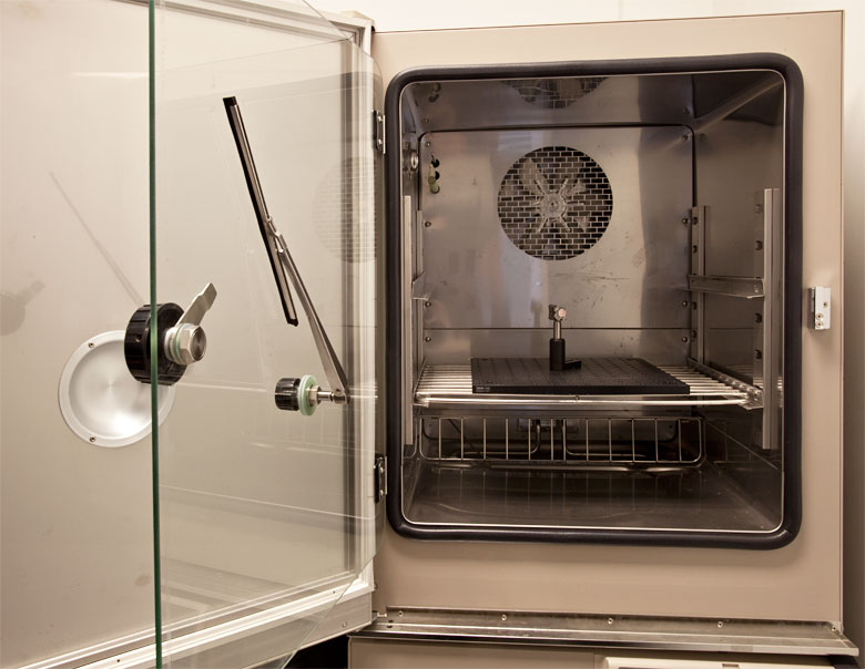 Our Espec Chamber used for testing under extreme temperature and humidity.