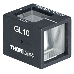GL10 - Mounted Glan-Laser Polarizer, Ø10 mm CA, Uncoated