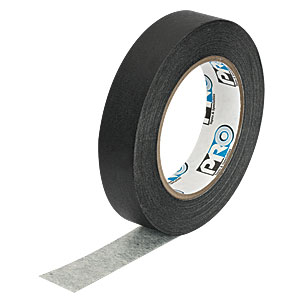 T137-1.0 - Black Masking Tape, 1in x 180' (25 mm x 55 m) Roll