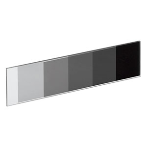 NDL-25S-2 - Rectangular Step ND Filter, 25mm wide, OD: 0.3 - 2.0