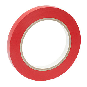 VTR-050 - Red Vinyl Tape, 1/2in Wide x 108' Long (12.7 mm x 32.9 m)
