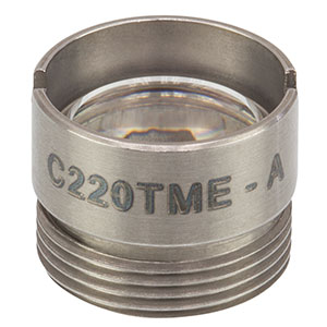 C220TME-A - f = 11.0 mm, NA = 0.25, Mounted Geltech Aspheric Lens, AR: 400-600 nm