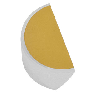 PFD05-03-M01 - Ø1/2in Protected Gold D-Shaped Mirror