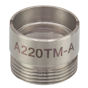 A220TM-A - f = 11.0 mm, NA = 0.26, Mounted Rochester Aspheric Lens, AR: 350-700 nm
