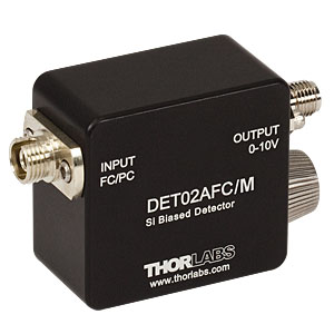 DET02AFC/M - 1 GHz Si FC/PC-Coupled Photodetector, 400 - 1100 nm, M4 Tap