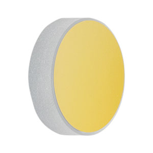 CM254-050-M01 - Ø1in Gold-Coated Concave Mirror, f = 50.0 mm