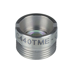 C440TME-C - f = 2.95 mm, NA = 0.27, Mounted Geltech Aspheric Lens, AR-Coated: 1050-1620 nm