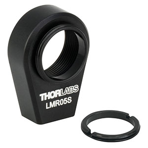 LMR05S - Ø1/2in Lens Mount with Internal and External SM05 Threads, 8-32 Tap