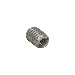 AE6E25E - Dual Threaded Adapter with Internal 6-32 Threads and External 1/4in-20 Threads