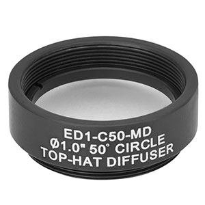 ED1-C50-MD - SM1-Threaded Mount, Ø1in 50° Circle Tophat Engineered Diffuser