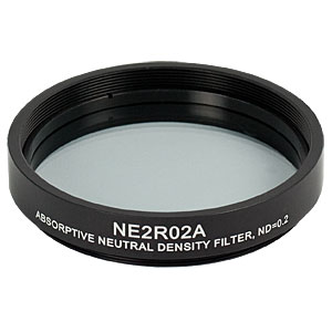 NE2R02A - Ø2in Absorptive ND Filter, SM2-Threaded Mount, Optical Density: 0.2