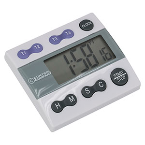 CDLT4 - 4-Channel Digital Lab Timer and Stopwatch