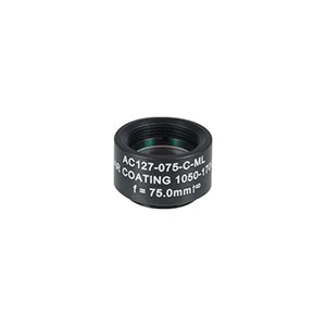 AC127-075-C-ML - f=75 mm, Ø1/2in Achromatic Doublet SM05-Threaded Mount, ARC: 1050-1700 nm