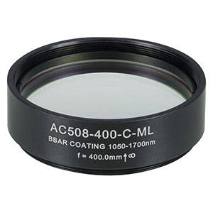 AC508-400-C-ML - f=400 mm, Ø2in Achromatic Doublet, SM2-Threaded Mount, ARC: 1050-1700 nm