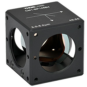 CM1-BP145B4 - 30 mm Cage Cube-Mounted Pellicle Beamsplitter, 45:55 (R:T), 3 - 5 µm