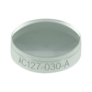 AC127-030-A - f=30.0 mm, Ø1/2in Achromatic Doublet, ARC: 400-700 nm