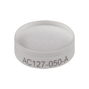 AC127-050-A - f = 50 mm, Ø1/2in Achromatic Doublet, ARC: 400 - 700 nm