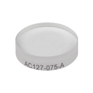 AC127-075-A - f = 75 mm, Ø1/2in Achromatic Doublet, ARC: 400 - 700 nm