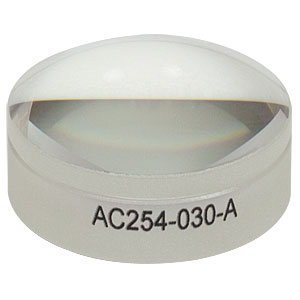 AC254-030-A - f = 30.0 mm, Ø1in Achromatic Doublet, ARC: 400 - 700 nm