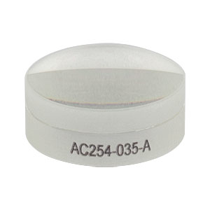 AC254-035-A - f = 35.0 mm, Ø1in Achromatic Doublet, ARC: 400 - 700 nm