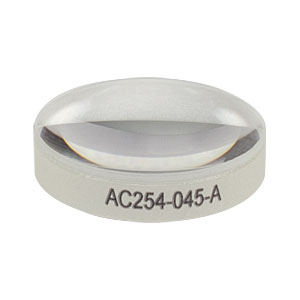 AC254-045-A - f = 45.0 mm, Ø1in Achromatic Doublet, ARC: 400 - 700 nm
